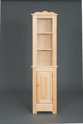 "AMISH HANDMADE PINE WOOD CORNER HUTCH CABINET W/BOTTOM DOOR 19""Wx73""H-UNFINISHED"