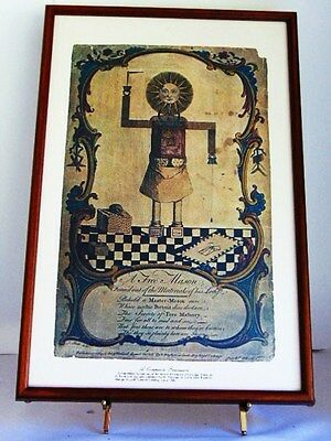 "Masonic ""a Composite Freemason"", A Rare 1754 Masonic Print By Drawn By A. Slade,"