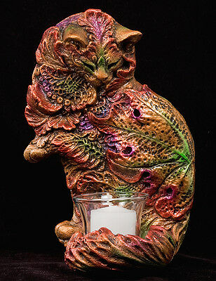 "Windstone Editions ""leaf Cat"" Sconce, Fantasy Animal Statue"