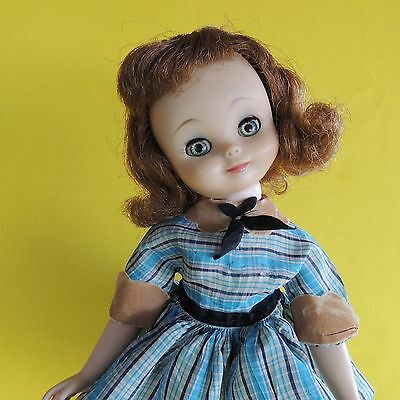 "Vintage 1958 American Character Betsy McCall 14"" Doll Plaid Dress"
