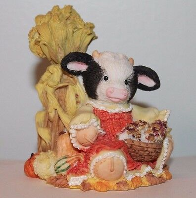 1995 Enesco Mary's Moo Halloween Cow's in the corn 142840 Autumn Harvest Collect