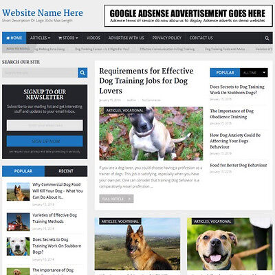 DOG TRAINING SHOP - Business Website For Sale! Best Way Earn Money At Home!