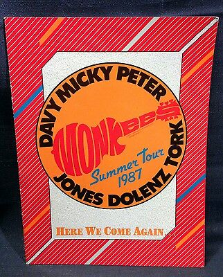 """Vintage Program - """"1987 Monkees Summer Tour - Here We Come Again"""" Guide"""