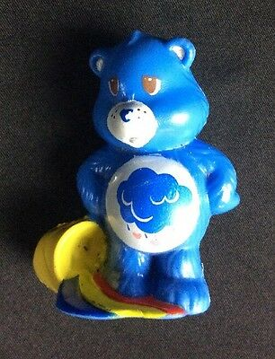 VTG 1984 AGC PVC Grumpy Care Bear With Pail and Rainbow Puddle Cake Topper 2""