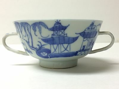 Antique Chinese/Japanese Porcelain Cup Hand Painted Blue And White