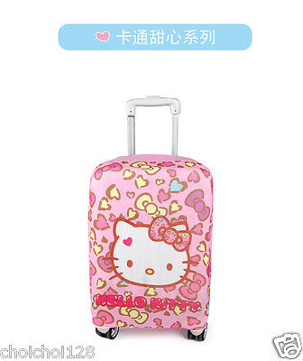 """Hello Kitty Suitcase Cover Dust Proof Trolley Bag Luggage Protector 22-23"""" KK831"""