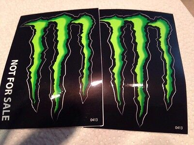 Monster Energy Drink 4 Inch Stickers (lot Of 2)