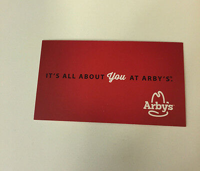 Arby's...thirty..combo Meal Cards...no Expiration