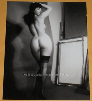BETTIE PAGE Sexy Nude Pinup Betty Big Boobs 1950s Butt Wife Vintage Photo J10