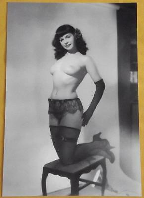Pinup Bettie Page Sexy Model Betty ASS Wife Girl Boobs Nude Vintage Photo Y13