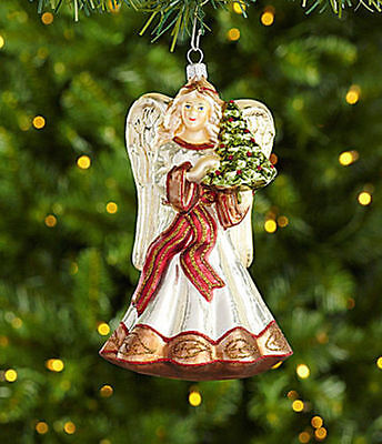 Dillard´s Trimmings All Is Calm 6.63-in. Angel with Tree Ornament New Poland