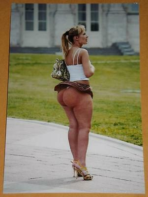 Curvy Big Butt Pinup Wife PHOTO Girl Model Image Hot Wife Huge Boobs Lady I84