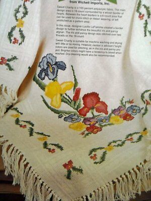 Iris & Pansy Afghan Counted Cross Stitch Magazine Pattern AF32