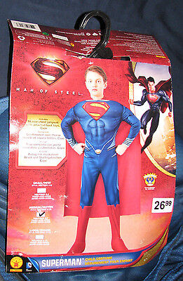 Man of Steel Superman Muscle Chest Costume Boys Size 8-10