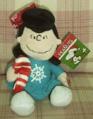 "Peanuts A Charlie Brown Christmas 10"" Plush Musical Lucy Doll New"