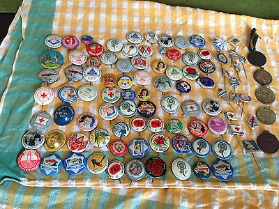 Old badges and pins