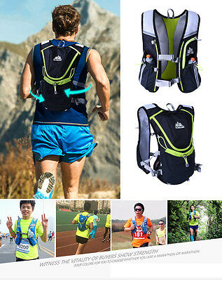 Running Cycling Vest Backpack Sports Camping Hydration Water Bladder Race Bag