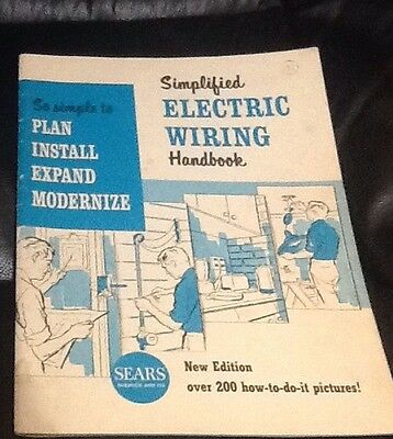 Sears Roebuck Simplified Electric Wiring Handbook, 1962  over 200 how to pics