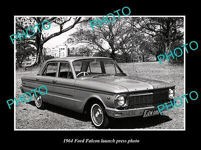 Old Large Historic Photo Of 1964 Ford Falcon Car Launch Press Photo