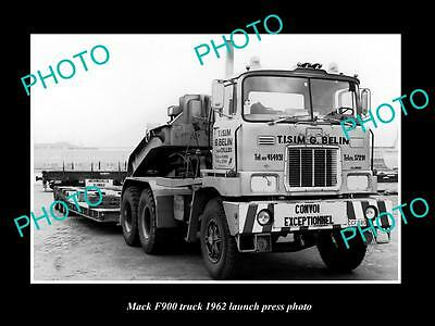 Old Large Historic Photo Of 1962 Mack F900 Truck Launch Press Photo