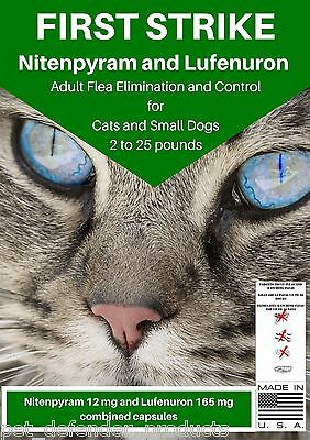Flea Killer and Control for Cats and Small Dogs, 100 Capsules