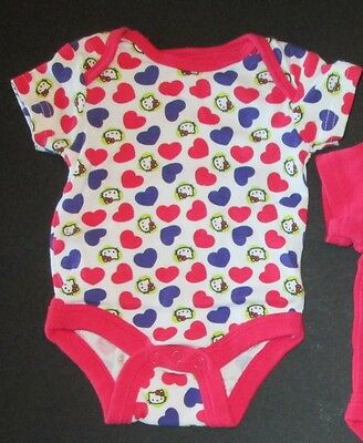 Hello Kitty Baby Girls 0 3 Month Infant Baby One Piece Bodysuit