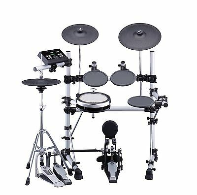 yamaha DTX550K drum kit with Pearl double-kick and Roadster stool