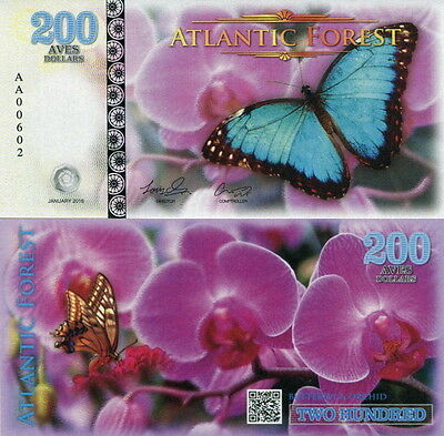 ATLANTIC FOREST - 200 aves dollars 2016 FDS UNC