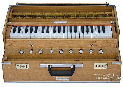 HARMONIUM No.5800n|FOLDING|MAHARAJA|NATURAL COLOR|COUPLER|A440|9STOP|BOOK|AHH-2
