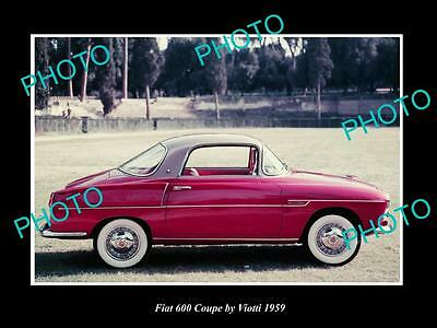Old Large Historic Photo Of 1959 Fiat 600 Coupe By Viotti Launch Press Photo