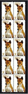 Basenji Year Of The Dog Strip Of 10 Mint Stamps 2