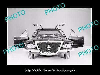 Old Large Historic Photo Of 1961 Dodge Flite Wing Car Launch Press Photo 1