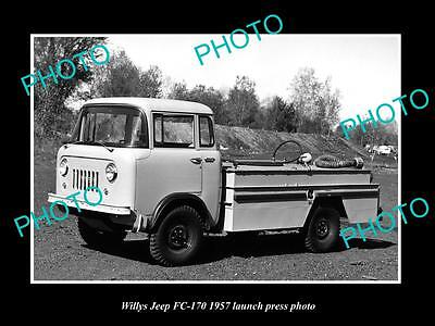 Old Large Historic Photo Of The 1957 Willys Jeep Fc 170 Launch Press Photo