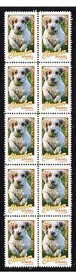 Clumber Spaniel Hunting Dogs Strip Of 10 Mint Stamps #2