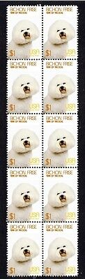 Bichon Frise Year Of The Dog Strip Of 10 Mint Stamps 2