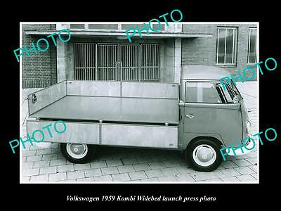 Old Large Historic Photo Of 1959 Volkswagen Kombi Widebed Launch Press Photo