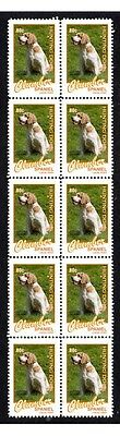 Clumber Spaniel Hunting Dogs Strip Of 10 Mint Stamps #3