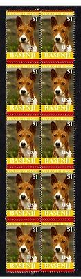 Basenji Strip Of 10 Mint Year Of The Dog Stamps 2