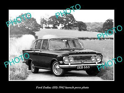 Old Large Historic Photo Of 1962 Ford Zodiac Launch Press Photo 1