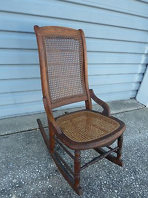Antique Mahogany ROCKING CHAIR SMALL LADY OR CHILD SIZE