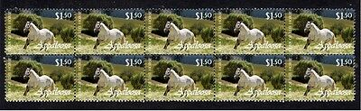 Appaloosa Strip Of 10 Year Of The Horse Stamps 3