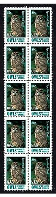 Nth American Spotted Owl Strip Of 10 Mint Stamps