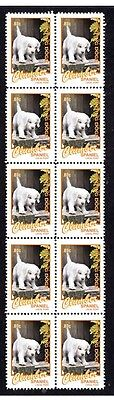 Clumber Spaniel Hunting Dogs Strip Of 10 Mint Stamps #5