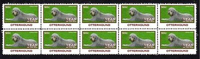 Otterhound Strip Of 10 Mint Year Of The Dog Stamps 2