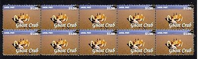 Ghost Crab Strip Of 10 Mint Vignette Stamps 2