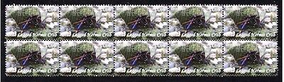 Blue Legged Hermit Crab Strip Of 10 Mint Stamps 2