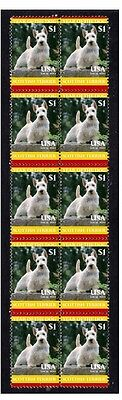 Scottish Terrier Strip Of 10 Mint Year Of Dog Stamps 2