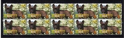 French Bulldog Strip Of 10 Mint Year Of Dog Stamps 1