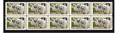 Clumber Spaniel Dog Strip Of 10 Mint Stamps #4