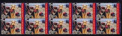 Airedale Terrier Year Of Dog Mint Strip Of 10 Stamps 5